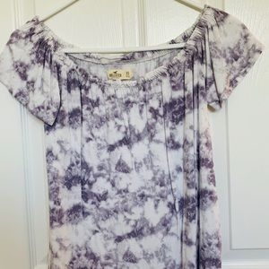Tie-dye off the shoulder top
